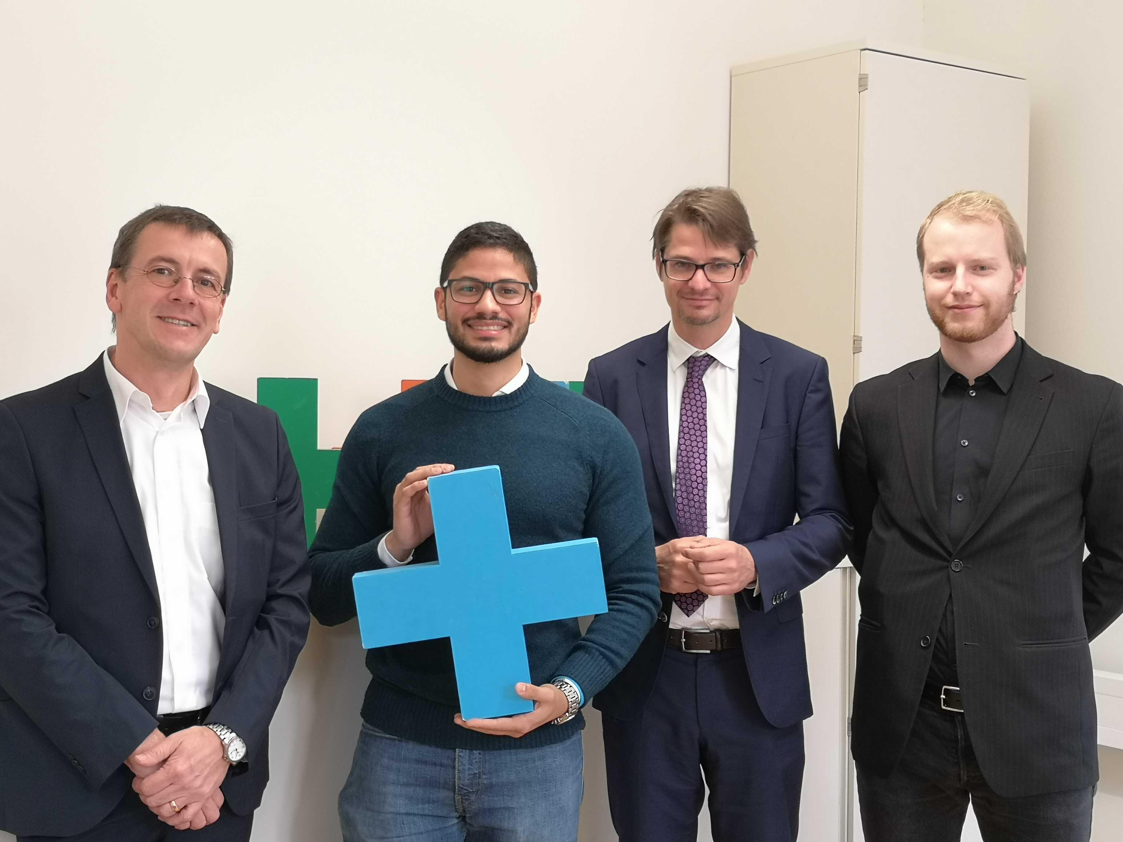 Jose Ramon mit Ernst Gesslbauer und Gerhard Volz
